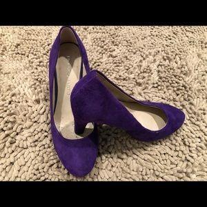Franco Sarto Purple Velvet Pumps